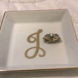 Jewelry - Yellow stone large studs